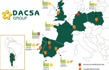 Mapa sedes dacsa group